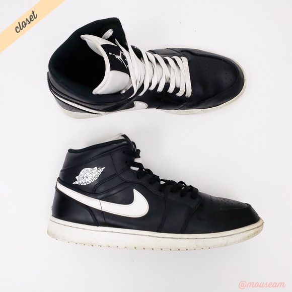 ... Air Jordan 1 Retro Mid B W Sneakers. M 5b8aae399fe486478dadc367 3cd580886